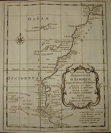 Bellin Jacques Nicolas (1703-1772) Coste Occidentale d'Afrique... 1739 Parigi