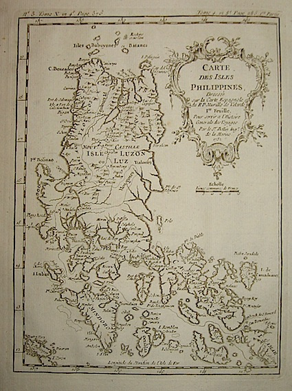 Bellin Jacques-Nicolas (1703-1772) Carte des Isles Philippines... 1752 Parigi