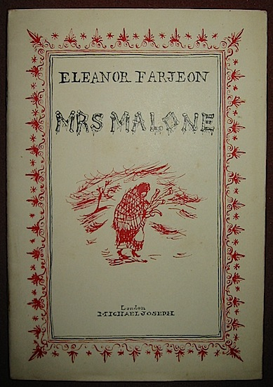 Eleanor Farjeon Mrs Malone 1950 London Michael Joseph