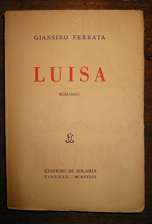 Ferrata Giansiro Luisa 1933 Firenze
