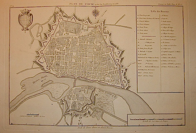 Lalande (de) Joseph Jerome Plan de Pavie et de Son faux bourg en 1768 1790 Parigi