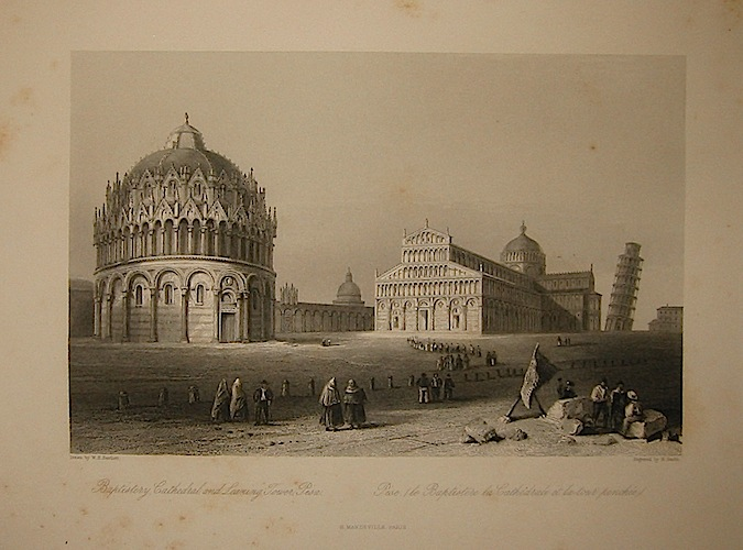 Sands R. Baptistery, Cathedral, and Leaning Tower, Pisa 1858 Parigi