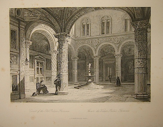 Tingle J. Court of the Old Palace Florence 1858 Parigi