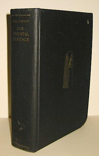 Will Durant Our Oriental Heritage 1954 New York Simon and Schuster