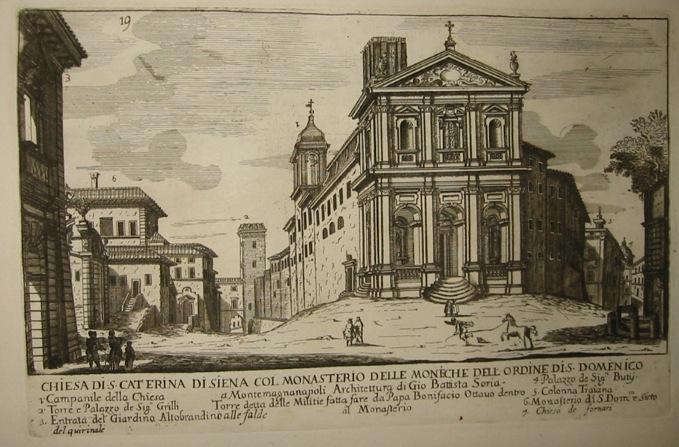 Falda Giovanni Battista (1643-1678) Chiesa di S. Caterina di Siena col Monasterio delle Monache dell'Ordine di S. Domenico 1773 Roma