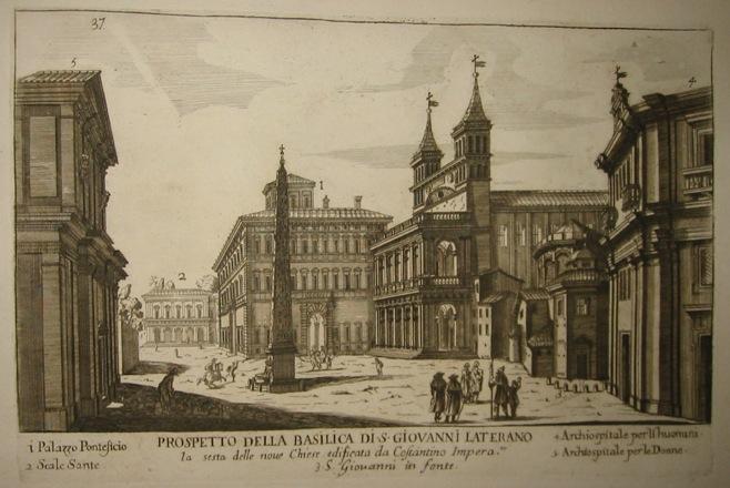 Falda Giovanni Battista (1643-1678) Prospetto della Basilica di S. Giovanni Laterano 1773 Roma