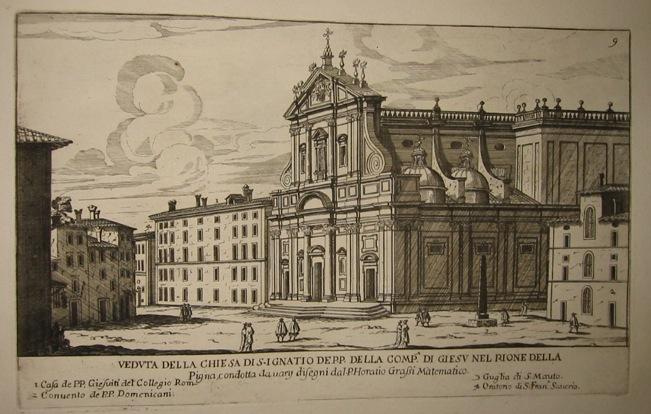 Falda Giovanni Battista (1643-1678) Veduta della Chiesa di S. Ignatio 1773 Roma