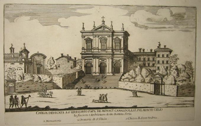 Falda Giovanni Battista (1643-1678) Chiesa di San Gregorio al Celio 1773 Roma