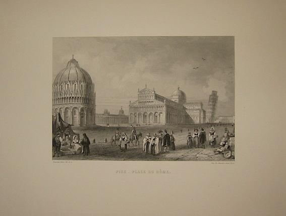 Rouargue (frères) Pise - Place du Dome 1860 ca. Parigi, Imp. Chardon