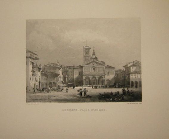 Rouargue (frères) Livourne - Place d'Armes 1860 ca. Parigi, Imp. Chardon