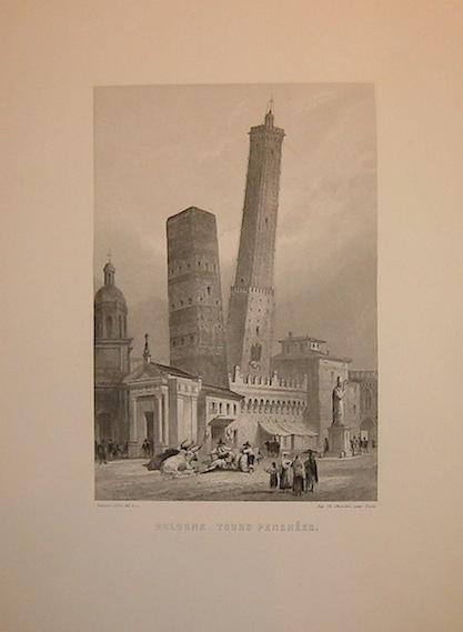 Rouargue (frères) Bologne - Tours penchées 1860 ca. Parigi, Imp. Chardon