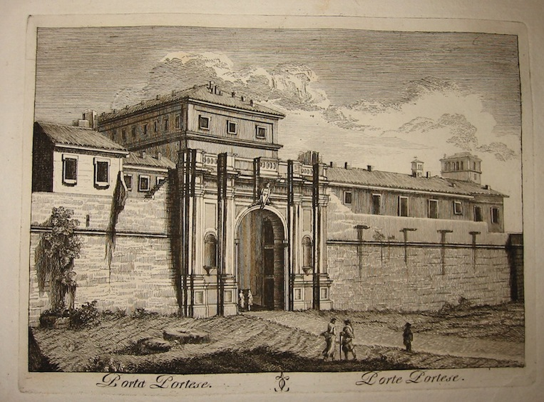 Calcografia Vasi Porta Portese 1796 Roma