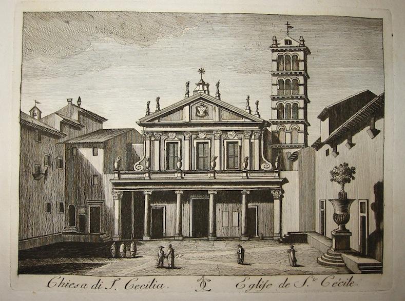 Calcografia Vasi Chiesa di Santa Cecilia 1796 Roma