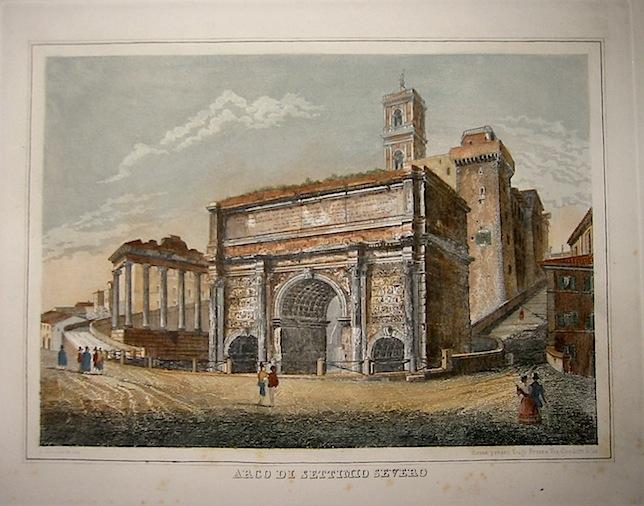 Moschetti Alessandro (attivo a Roma intorno alla metà  del XIX Secolo) Arco di Settimio Severo 1840 ca. Roma
