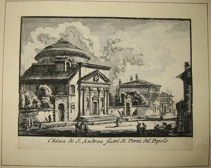 Piranesi Francesco (1758-1810) Chiesa di S. Andrea fuori di Porta del Popolo 1800 Parigi