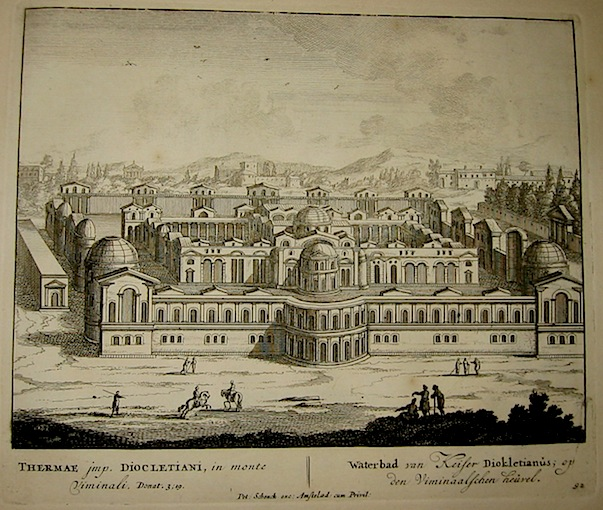 Schenk Peter (1660-1711) Thermae Imp. Diocletiani in monte Viminali 1705 Amsterdam