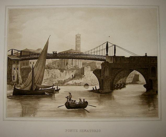 Anonimo Ponte Senatorio 1863 Roma