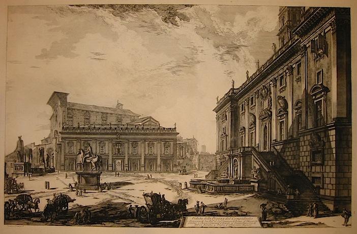 Piranesi Giovanni Battista (1720-1778) Veduta della Piazza del Campidoglio 1809 Parigi