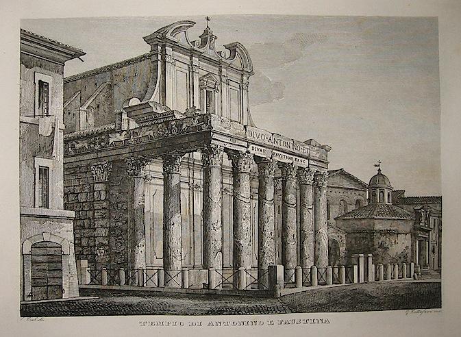 Cottafavi Gaetano (attivo nella prima metà del XIX Secolo) Tempio di Antonino e Faustina 1843 Roma