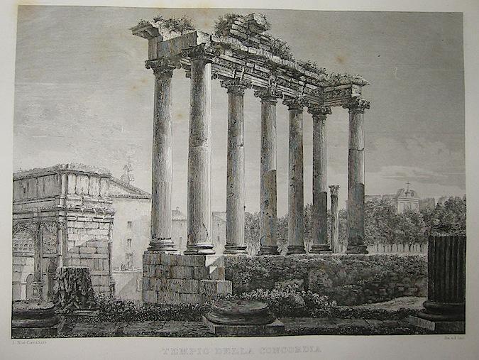Cottafavi Gaetano (attivo nella prima metà  del XIX Secolo) Tempio della Concordia 1843 Roma