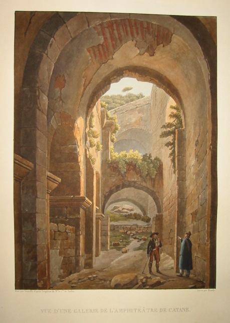 Vue d'une galerie de l'amphitéà¢tre de Catane 1822-1826 Parigi