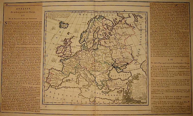 Brion de la Tour Louis - Desnos Louis Charles L'Europe dressée pour l'étude de la Géographie... 1766 Paris
