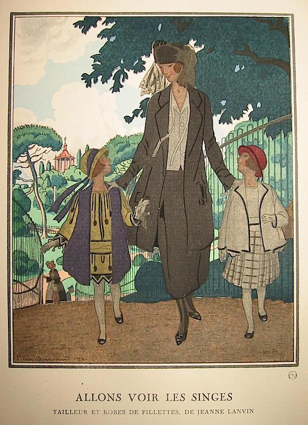 Voir les singes. Tailleur et robes de fillettes, de Jeanne Lanvin 1921 Parigi