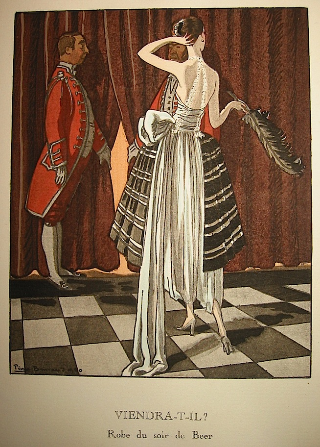 Viendra-t-il? Robe du soir de Beer 1920 Parigi