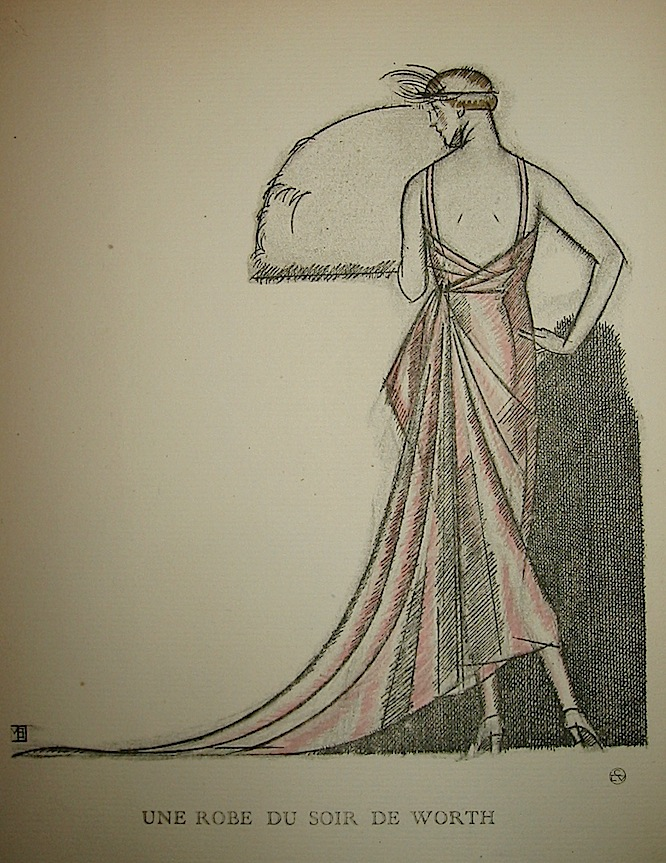 Une robe du soir de Worth 1920 Parigi