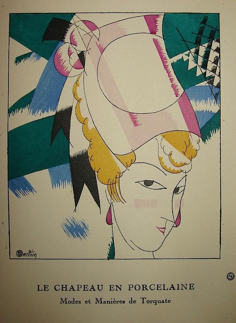 Le chapeau en porcelaine. Modes et maniéeres de Torquate 1920 Parigi
