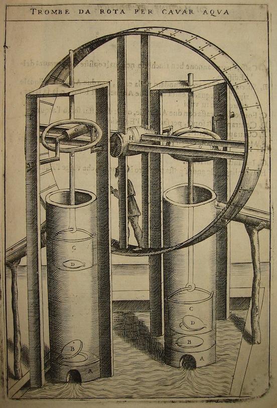 Zonca Vittorio Trombe da rota per cavar aqua 1656 Padova