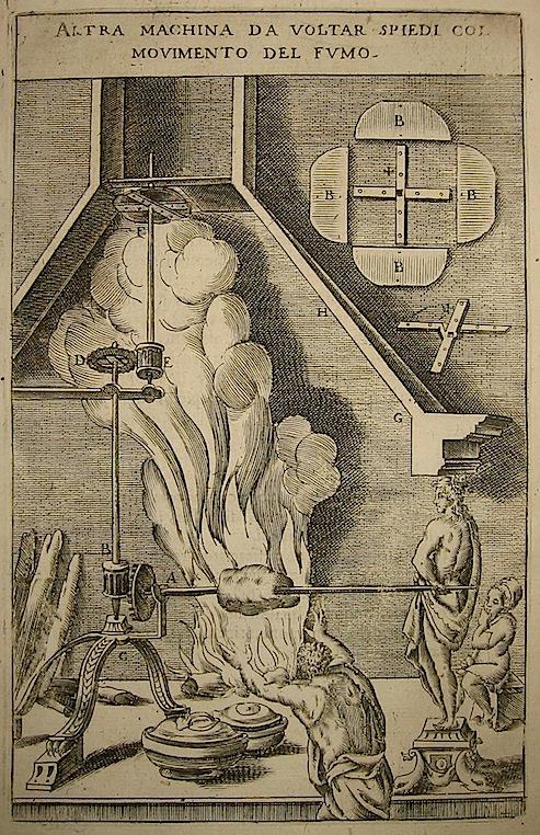 Zonca Vittorio Altra machina da voltar spiedi col movimento del fumo 1656 Padova