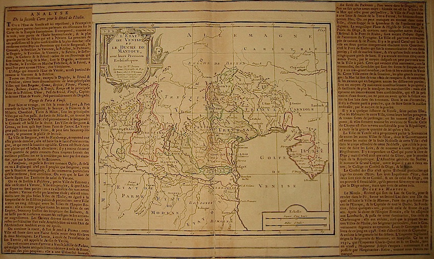 Brion de la Tour Louis - Desnos Louis Charles L'Etat de Venise et le Duché de Mantoue avec leurs Provinces Ecclésiastiques 1766 Paris