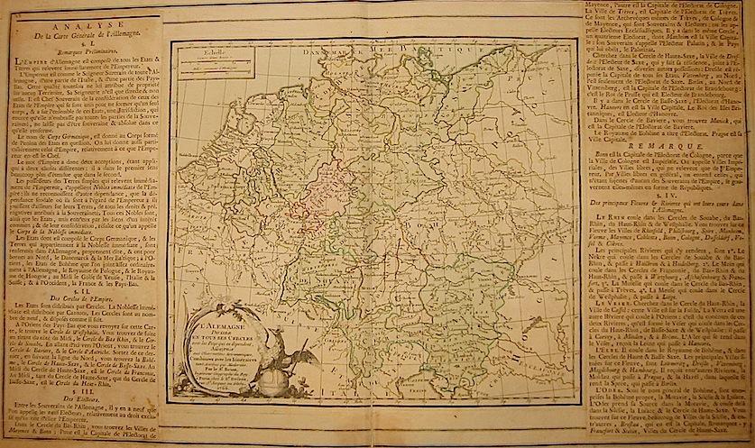 Brion de la Tour Louis - Desnos Louis Charles L'Alemagne diviséè en tous ses Cercles... 1766 Paris