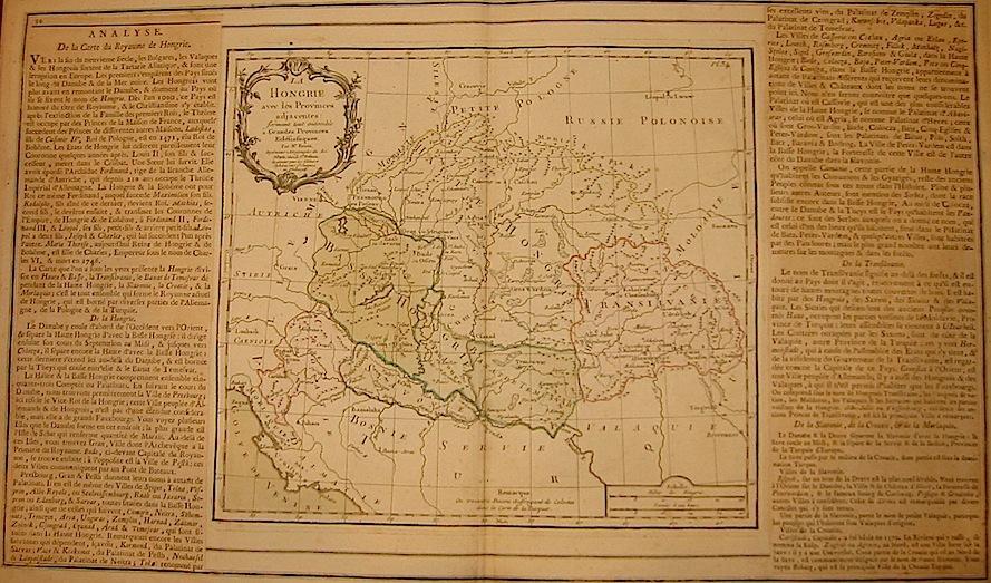 Brion de la Tour Louis - Desnos Louis Charles La Hongrie avec les Provinces adjacentes... 1766 Paris