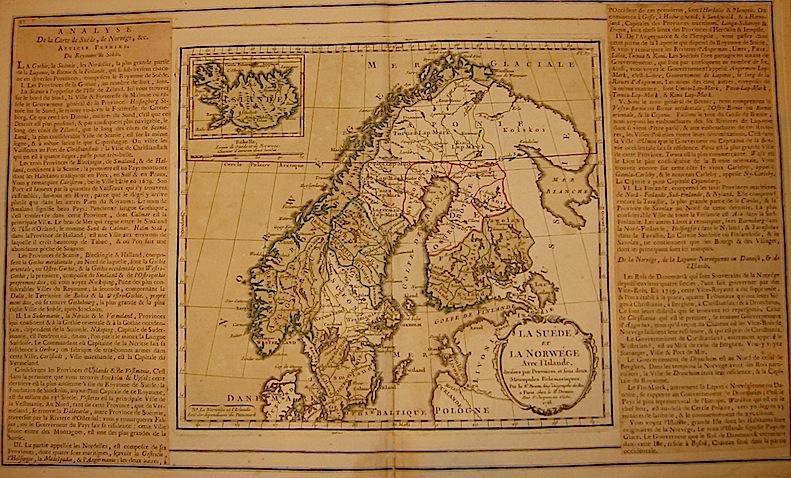 Brion de la Tour Louis - Desnos Louis Charles La Suéde et la Norwége avec l'Islande... 1766 Paris