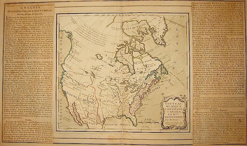 Brion de la Tour Louis - Desnos Louis Charles Nouveau Mexique, Louisiane, Canada, et N.lle Angleterre 1766 Paris