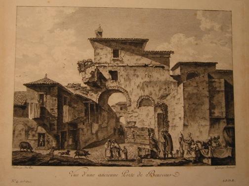 Berthault Pierre-Gabriel Vue d'une ancienne Porte de Benevent 1783 Parigi