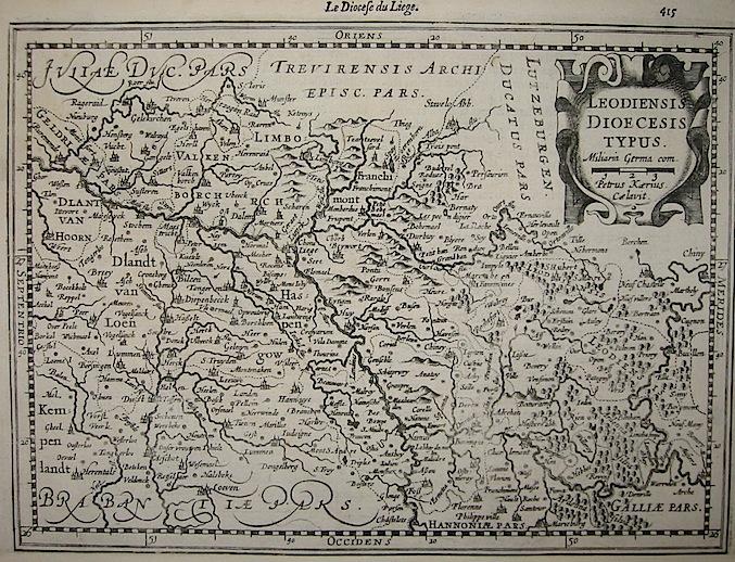 Mercator Gerard - Hondius Jodocus Leodiensis Diocesis typus 1630 Amsterdam