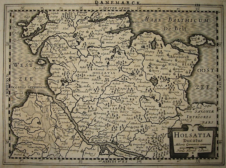 Mercator Gerard - Hondius Jodocus Holsatia Ducatus 1630 Amsterdam