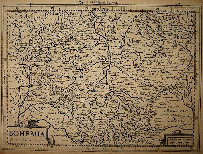 Mercator Gerard - Hondius Jodocus Bohemia 1630 Amsterdam