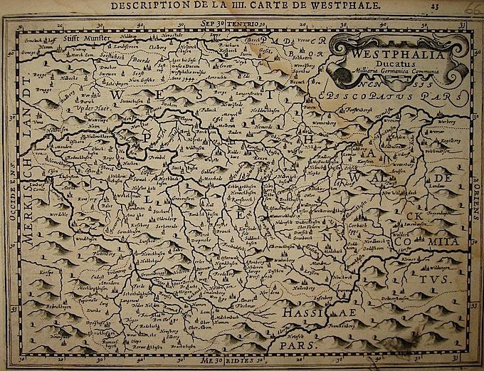 Mercator Gerard - Hondius Jodocus Westphalia Ducatus 1630 Amsterdam