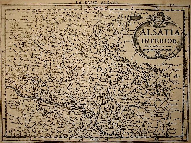 Mercator Gerard - Hondius Jodocus Alsatia inferior 1630 Amsterdam