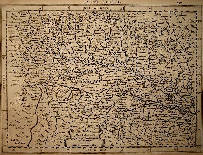Mercator Gerard - Hondius Jodocus Alsatia superior... 1630 Amsterdam