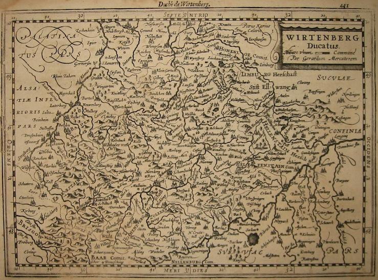 Mercator Gerard - Hondius Jodocus Wirtenberg Ducatus 1630 Amsterdam