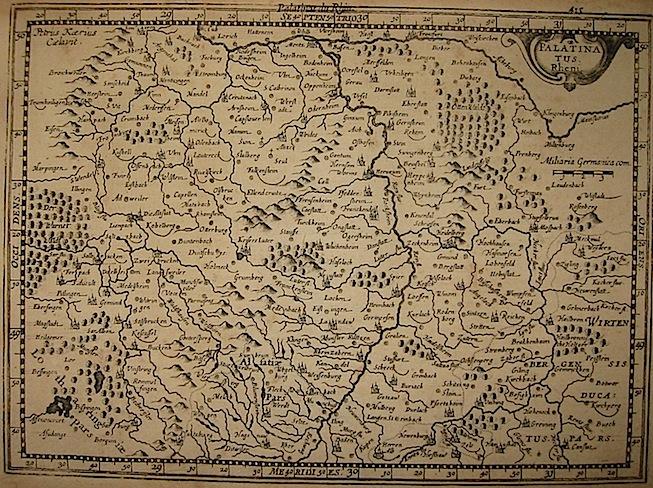 Mercator Gerard - Hondius Jodocus Palatinatus Rheni 1630 Amsterdam
