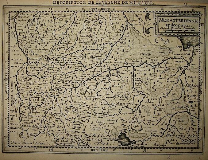 Mercator Gerard - Hondius Jodocus Monasteriensis Episcopatus 1630 Amsterdam