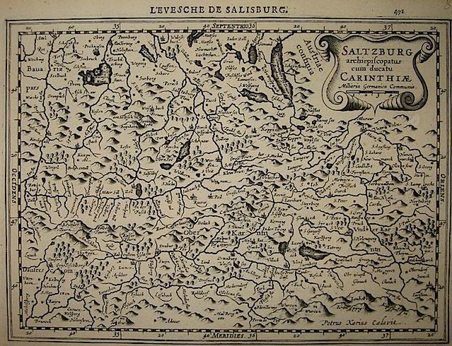 Mercator Gerard - Hondius Jodocus Saltzburg Archiepiscopatus cum ducatu Carinthiae 1630 Amsterdam