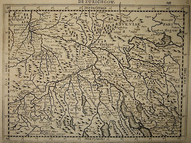 Mercator Gerard - Hondius Jodocus Zurichgow 1630 Amsterdam