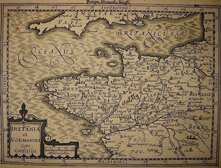 Mercator Gerard - Hondius Jodocus Bretania et Normandia cum confinijs 1630 Amsterdam